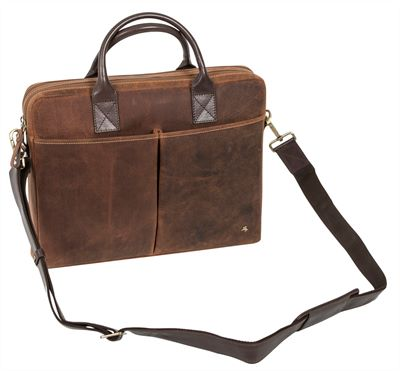 Slimline Distressed Leather Laptop Case (LBS872)