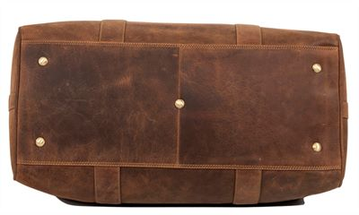 Large Distressed Leather Holdall (LBS874)