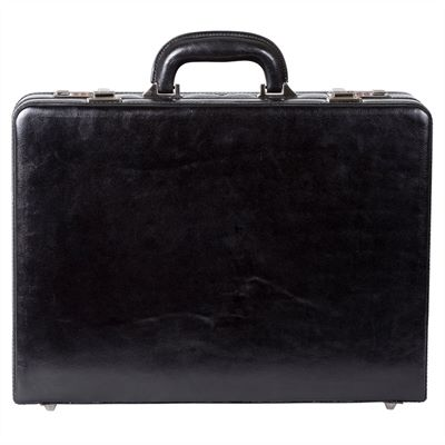 Expanding Attache Case in Italian Top Grain Leather (LBS003)