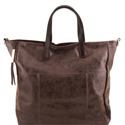 Soft Italian Leather Shopper (LBS654)