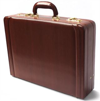 Leather Expanding Attache Case  (LBS042)
