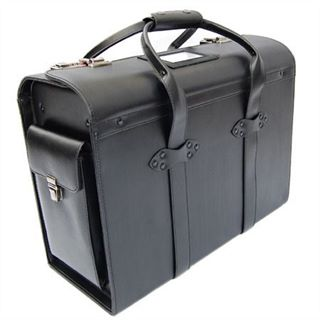 Twin Handle Leather Pilot Case (LBS933)