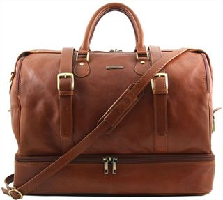 Italian Handmade Leather Travel Bag  (Almost perfect LBS524)