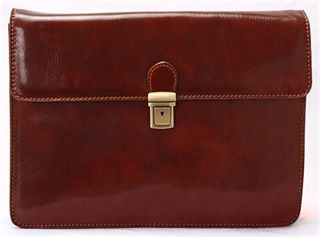 Italian Handmade Leather  Underarm Case (LBS511)