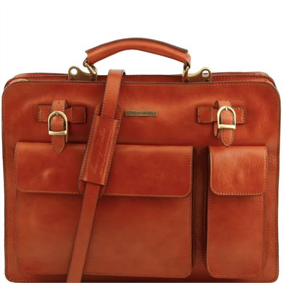 The 'Venezia' Handmade Italian Leather Briefcase by Tuscany Leather (LBS104)