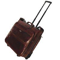 Leather Roller Suitcase & Suit Carrier (LBS009)