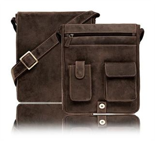 Leather Messenger Bag in Distressed Leather (LBS616)